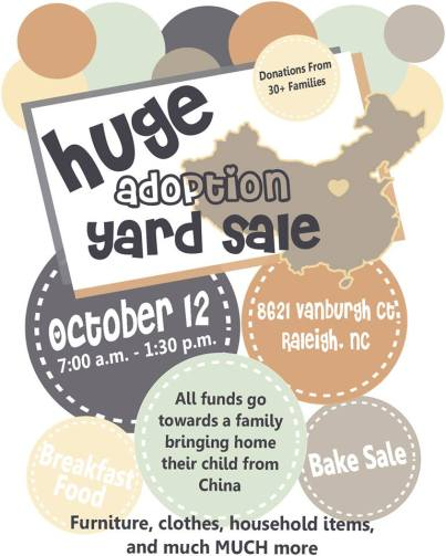 Adoption Yardsale Flier
