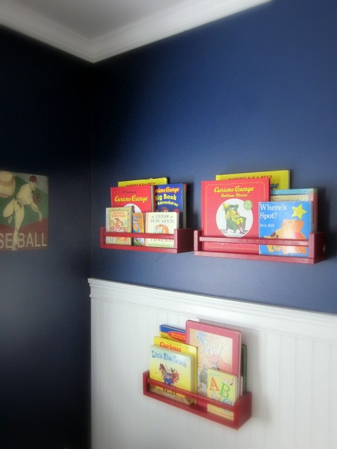 book shelf landons room