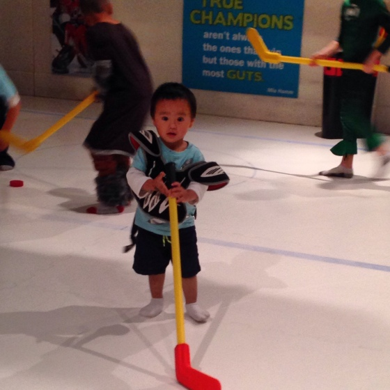 Hockey player one day?!